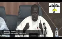 VIDEO - Intervention de Bakary Samb (Symposium du Maouloud 2013)