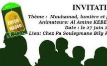 LES EXPOSÉS DE EUTOU-MAODO:  - Seydina Mouhamad (saw), lumière et prophétie dans le Tayssir , ce Samedi 27 Juin 2015 à 10h aux HLM Patte d'oie