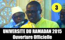 VIDEO - Universités du Ramadan 2015 - Allocution de Serigne Cheikh Tidiane Sy Maodo et Fin