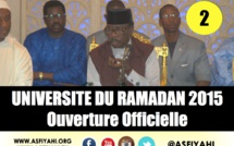 VIDEO - Universités du Ramadan 2015 - Cours Magistral de Serigne Moustapha Sy - 2éme Partie