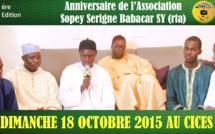 VIDEO - ANNONCE - Anniversaire de l'Association Sopey Serigne Babacar Sy, Dimanche 18 Octobre 2015 au CICES de Dakar