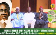 ANNONCE VIDEO - Journée El Hadj Malick SY (rta) sur l'île de Gorée, Samedi 5 Décembre 2015, Suivez l'Appel des Jeunes Tidianes de Dakar Plateau