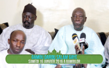 VIDEO - AVANT-PREMIERE - Gamou Darou Salam Gaye, Samedi 16 Janvier 2016 à Bambilor . Suivez l'Appel