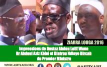 VIDEO- ZIARRA LOUGA 2016 - Réaction de la Délégation du Premier Ministre conduite par son Dircab et du Dr Abdoul Aziz Kébé