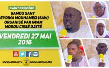 VIDEO - Suivez l'avant-Premiere du Gamou Sant Seydina Mouhamed (saw) organisé par Imam Modou Cissé Djité  Vendredi 27 Mai 2016 AU terrain de Football Zac Mbao